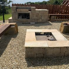 Looking for ideas for your summer barbeque party? Check out this Donegal Sandstone, Hand-Picked firepit and barbeque set! Summer Barbeque, Bbq, Stone Veneer, Donegal, Patio, Check, Outdoor Decor, Projects, Inspiration