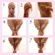 いいね!291件、コメント7件 ― fujii_hiromi(hayashi)さん(@hay_rom)のInstagramアカウント: 「ハットアレンジ 1,2. ひとつめのくるりんぱ。 (最後に帽子を被るので、耳より下の位置で結ぶ)崩さない。  3,4,5 襟足の髪(ひとつめで結んだ以外の髪)をくるりんぱして崩す。…」