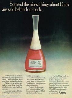 Vintage Cutex nail polish ad.