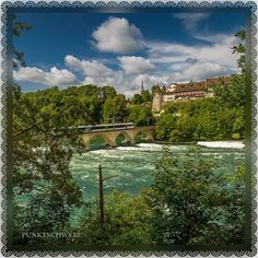 Beim #Rhein am #Rheinfall mit #Schlosslaufen ... #Schweiz #Switzerland ... ©Leopictures Main Attraction, The Visitors, Natural Wonders, All Over The World, The Rock, Beautiful Places, Europe, River, Nature