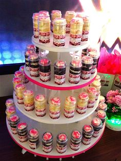 tower of push-up cake pops