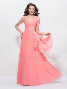 750c93993c3 Stylish V-Neck A-Line Beading Zipper-up Floor Length Prom Dress - Cute  Dresses
