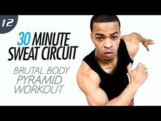 30 Min. INSANE Pyramid Total Body HIIT Workout | 30 Min. Sweat Circuit: Day 12 - YouTube