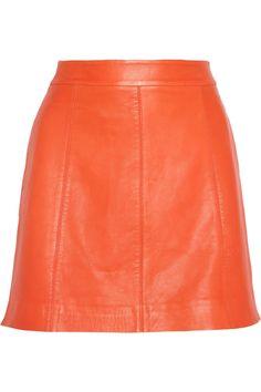 Marc by Marc Jacobs|Jett leather A-line mini skirt|NET-A-PORTER.COM