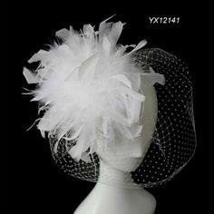 $14 新しい到着の2013送料無料結婚式白い羽の髪の魅惑的な物、 結婚式かぶと/女性の髪のアクセサリー