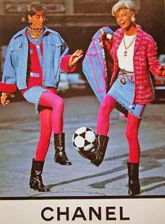 F/W 1991 CHANEL Linda Evangelista & Christy Turlington