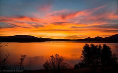 Sunset over Lake Pend Oreille near Sandpoint, Idaho.  Pic: Howard Guyer