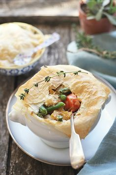 Light Vegetable Pot Pie