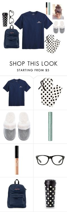 """""""Pj day Spirit week day 1"""" by ammurphy ❤ liked on Polyvore featuring Vineyard Vines, Victoria's Secret, Maybelline, JanSport and Kate Spade"""