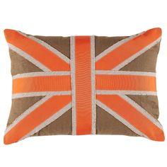 D750 Orange Union Jack Pillow