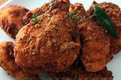 Crispy Buttermilk and Herb Marinated Fried Chicken