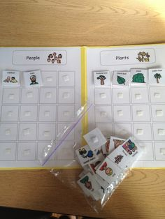 Autism Tank: Work Task Tuesday: Sorting by Category Autism Learning, Autism Activities, Autism Resources, Sorting Activities, Classroom Activities, Special Education Activities, Life Skills Classroom, Autism Classroom, File Folder Activities