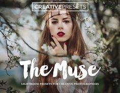 "20 Romantic & Dreamy Lightroom Presets for Photographers ""The Muse"" Presets Lightroom, Texture Web, Modern Portraits, Design Typography, Script Type, Illustrations, Business Brochure, Urban Landscape, Photoshop Actions"
