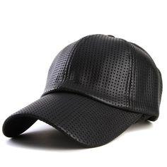 c051afa8e19 Fashion Hip Hop Baseball Faux Leather Cap