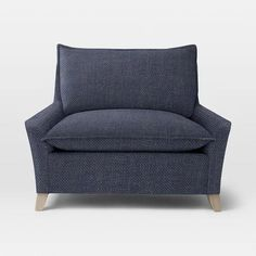 West Elm Bliss Down-Filled Chair-and-a-Half - Solids