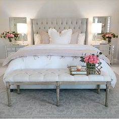 Spring Bedroom Refresh – The Decor Diet Dream Bedroom, Home Bedroom, Bedroom Furniture, Master Bedroom, 1920s Bedroom, Bedroom Table, Casa Disney, Guest Bedroom Decor, Bedroom Ideas