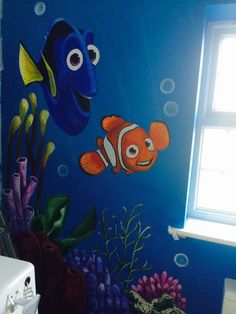 Finding Nemo Mural Pinterest Finding nemo Wall decals and Playrooms