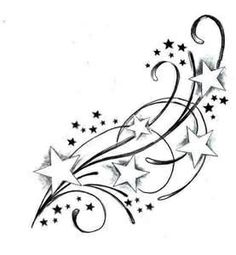 stars tattoo - cute-tattoo.com