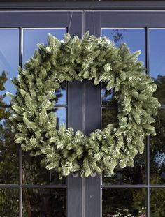 Jefferson Double Door Wreath Get a Jefferson Double Door Christmas Wreath to decorate your door this Christmas by Balsam Hill Artificial Christmas Wreaths, Christmas Door Wreaths, Christmas Swags, Holiday Wreaths, Christmas Decorations, Holiday Decorating, Door Decorating, Holiday Ideas, Christmas Ideas