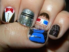 Doctor Who nail art <3