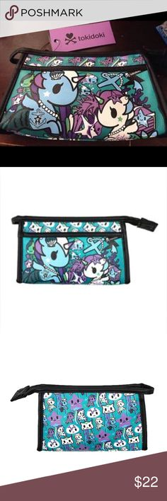"Tokidoki Mermicorno makeup bag Bundle to save on shipping!                                                     By Loungefly. New with tags, super cute!!! Dimensions: 7.5""x5""x2"" tokidoki Bags"