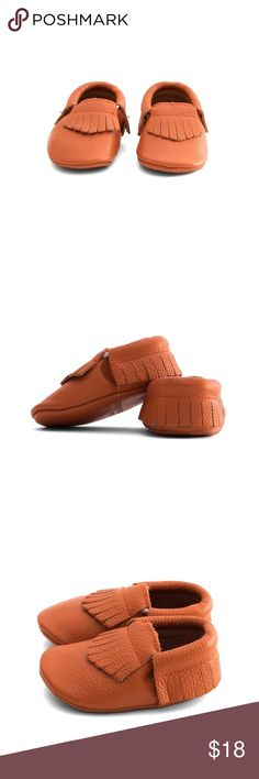 MAC&LOU FRINGE BABY LEATHER MOCCASINS ORANGE MAC&LOU FRINGE BABY LEATHER MOCCASINS ORANGE MAC&LOU Shoes Moccasins