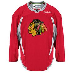 Get this Chicago Blackhawks Red Practice Jersey at WrigleyvilleSports.com