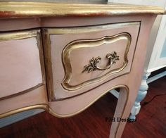 PJH Designs Hand Painted Antique Furniture: A French Provincial Toilet Table/Desk Redo
