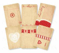 vintage Love envelope--