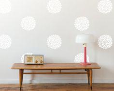 Flower Vinyl Wall Decals 10 Blooms 13 in. or 18 blooms 9
