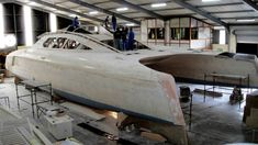 Fast Boats, Cool Boats, Boat Building, Building Design, Sailing Catamaran, Float Your Boat, Boat Design, Boat Plans, Wooden Boats