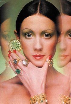 Moyra Swan by Barry Lategan, jewelry by John Donald, 1971