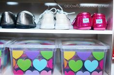 Kids closet organization on A BOWL FULL OF LEMONS