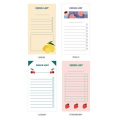 Ardium Fruit checklist to do list memo notepad - Fallindesign