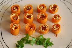 Rollitos de Zanahoria con Hummus