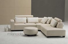 Γωνιακός καναπές Ave με δυνατότητα επιλογής υφάσματος ή eco leather, απόχρωσης…