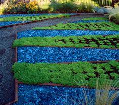 Garden blues in Boulder, Colorado by Marpa Landscape Design Studio Zen Rock Garden, Big Garden, Garden Art, Garden Design, Dream Garden, Landscape Glass, Contemporary Landscape, Landscape Design, Boulder Landscape