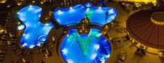 Here's a wide angle shot of our pool at night at Croc's Resort in Costa Rica