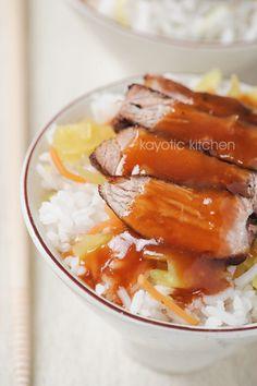 Babi Pangang--grilled sweet and sour pork