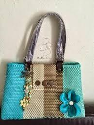 Resultado de imagen para bolsas artesanales tejidas de plastico