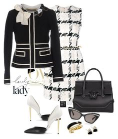 Lovely Lady by michelledevon on Polyvore featuring polyvore, fashion, style, Alexander McQueen, Moschino, Tom Ford, Versace, Michael Kors, Karen Walker, Chanel, Inez & Vinoodh and clothing