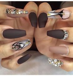 Nice colors in this nail art