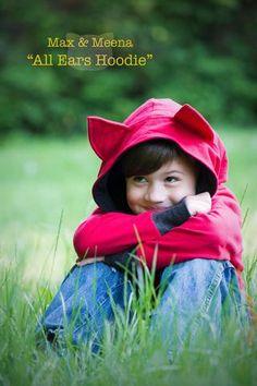 All Ears Hoodie Sewing Pattern (PDF) – max & meena Patterns Sewing Projects For Kids, Sewing For Kids, Sewing Crafts, Sewing Patterns Free, Sewing Tutorials, Sewing Ideas, Clothes Patterns, Sewing Hacks, Craft Patterns