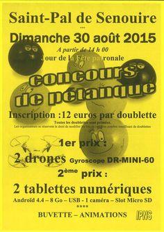 Concours de pétanque - dimanche 30 août 2015 - Saint-Pal-de-Senouire