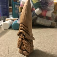 ,Small Gnome carved from a piece of basswood from this box. Pick The Best Woods For Wood Carving If you should be starting to define wood , it. Simple Wood Carving, Wood Carving Faces, Dremel Wood Carving, Wood Carving Designs, Wood Carving Patterns, Wood Carving Art, Wood Art, Whittling Projects, Whittling Wood