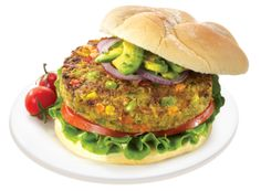 September 2015 Veggie Burger of the Month Yum, veggie burgers! There are so many types out there, so I started this Veggie Burger of the Month series to celebrate the wide world of these meat-free . Burger Vegetarian, Veggie Burger Healthy, Black Bean Veggie Burger, Vegetarian Recipes, Veggie Burgers, Vegan Vegetarian, Plant Based Eating, Plant Based Diet, Plant Based Burgers