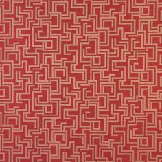 Burgundy/Red/Rust Damask/Jacquard, Marine, Outdoor/Indoor  Upholstery Fabric - K7749 RUBY/GEOMETRIC
