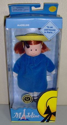 This is the old style face Madeline doll.  She is adorable, loves her friends and loves going to catholic school.  She is poseable.  Her hair can be combed and her clothing is removable.  She is new old stock.