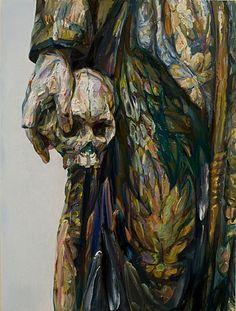 "Aaron Smith, Estofada,2008, oil on panel, 40"" x 30"""