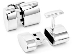 Cufflinks with Wi-Fi hot spot........... This is amazing... I would sport a suit everyday if I had this.